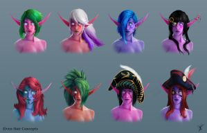 Elven Hair Concepts by pasco295