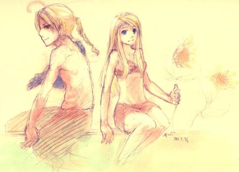 Ed and Winry by catzzzrule