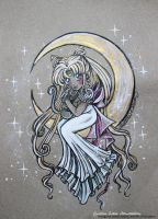 Sketch Chibi Gold Serenity - Fanart Sailor Moon by CrisEsHer