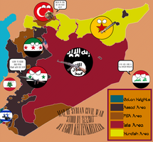 Map of the Syria War in Countryball Style by IasonKeltenkreuzler