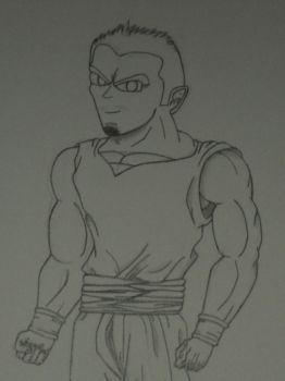 Upclose Upper Body-(Me as dbz character) by MoonmansArtworks