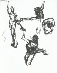 Drawing Party Sketches 1 by TheInsaneDingo