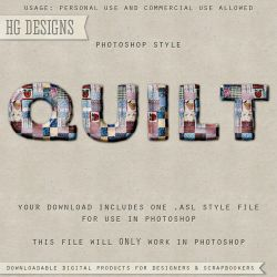 PS Style: QUILT by HGGraphicDesigns