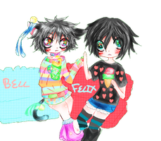ART TRADE: BELL AND FELIX! by imoutoprincess