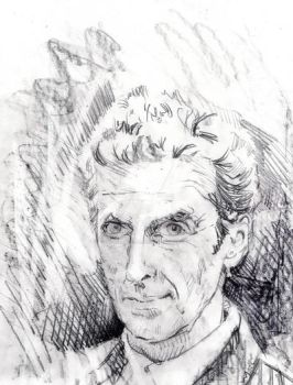 Peter Capaldi rough sketch. by hill19652000