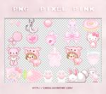 PNG - Pixel pink by Cian05