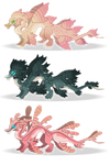 Sea wyrm adoptables by Shegoran