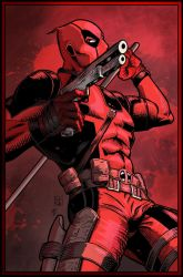 Deadpool (color version) by ElieBongrand