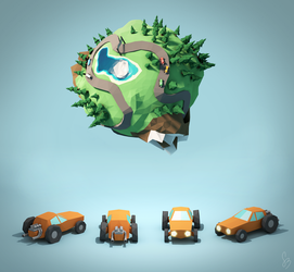 Concept Art for Racing Game by smnbrnr