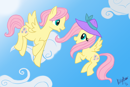 Fluttershy and Butterscotch by PukyBear