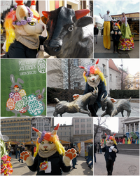 [ FURSUITING ] Easter market opening by Marchef-Iustinianie