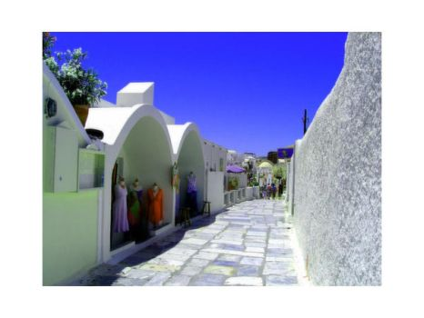 Streets of Oia - IX by valkryja