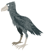 a shoebill friend by HoodieGrump