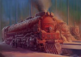 Red Locomotive by TolyanMy