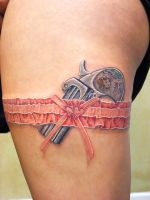 Pistol and Garter by asussman
