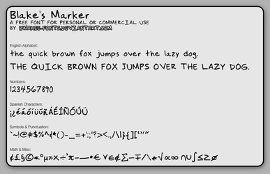 Blakes Marker by bwakee-fonts