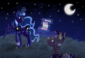 Instructing the night guard by Essely