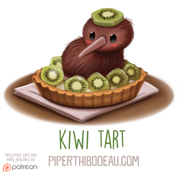 Daily Paint 1600. Kiwi Tart by Cryptid-Creations