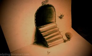 3D Drawing - The Tunnel by EdyZhng