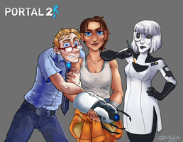 When Portal meets Disney by Yohiri