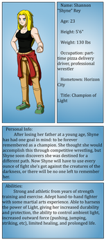 Character Sheet: Shyne by Radiance2020