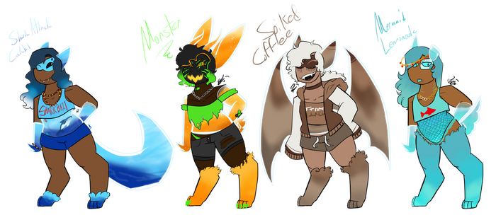 ((OTA))Have a Drink- Canuid Adopts[OPEN] by ArizaTheObserver