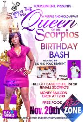 QUEEN OF THE SCORPIOS FLYER by mochadevil83