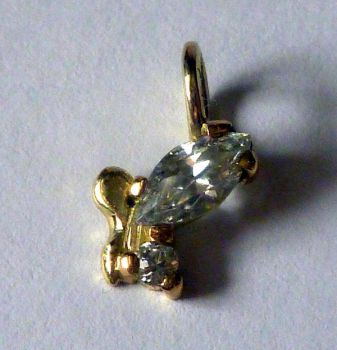 Gold fairy pendant with CZ by LARvonCL