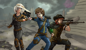 Fallout Equestria (humanized) by DarkSittich
