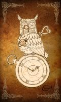 Steampunk Clockwork Owl by EpHyGeNiA
