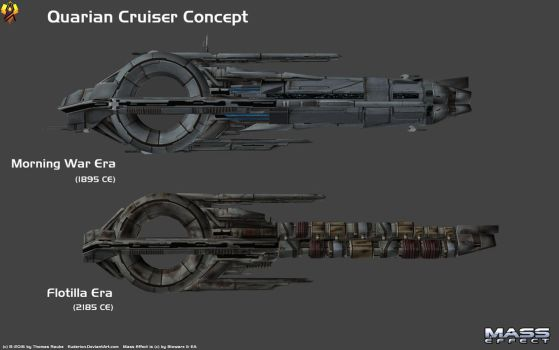 Quarian Cruiser Comparison by Euderion
