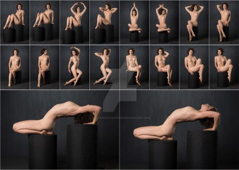 Stock: Dani F Posing Stool Nudes - 18 Images by stockphotosource