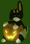 pumpkin bunny by goldfootedfool