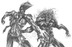 The Savage Dragon vs. Lobo by CjB-Productions
