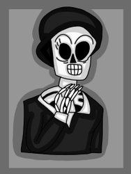 Mereedes. (Grim Fandango.) by 21WolfieProductions