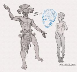 Character sketches by IonChirita