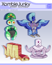 PayPal Mystery Adopt 2- Demon Idols (CLOSED) by XombieJunky