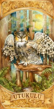 Great Horned Owl by laverinne