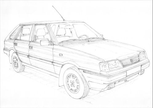 FSO Polonez Caro 1/3 by PaperGarage