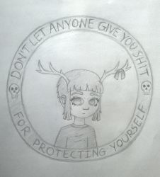 Deer Girl Stamp by Harumii-chama