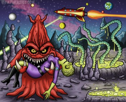 Slime Monsters From Planet 17 by vonblood