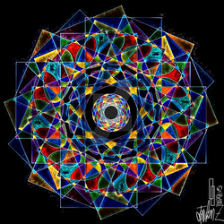Mandala Abstraction 1 Revisited by surrealistguitarist