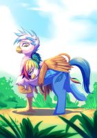 Gren + Feather Rainbow Griff Siblings by Bakki by Q99