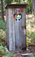 Outhouse - Rainbow Dash by normanb88
