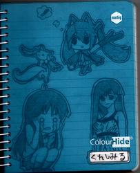 My Cute Anime Notebook by NewbMangaDrawer