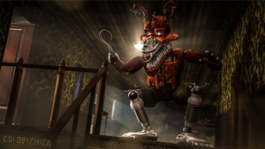 Nightmare Foxy 4k Wallpaper SFM by gold94chica