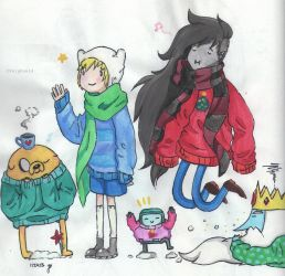 Adventure Time Winter Time by Yo-lay