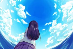 A girl looking up the sky by TakutoNakano