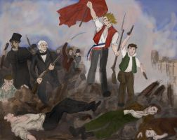 Enjolras guidant les miserable by tweedandtea