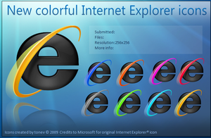 colorful IE icons by tonev